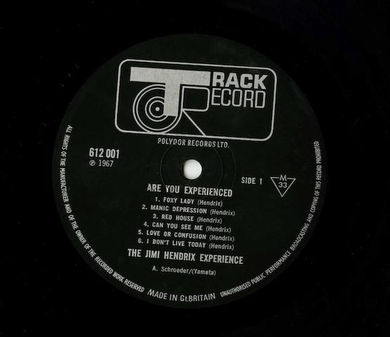 The Jimi Hendrix Experience: 'Are You Experienced' LP, 1967,