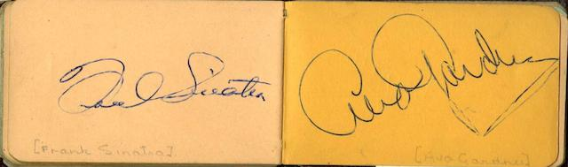 Various Artists: A collection of film star signatures in an autograph book,