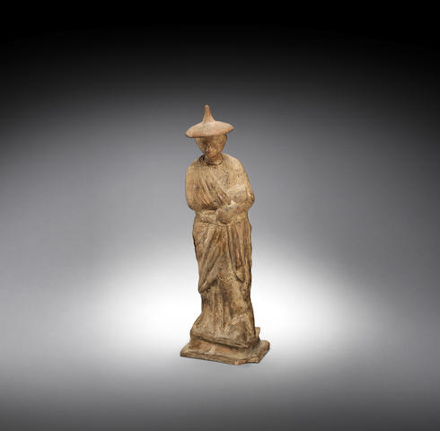 A South Italian terracotta female figure