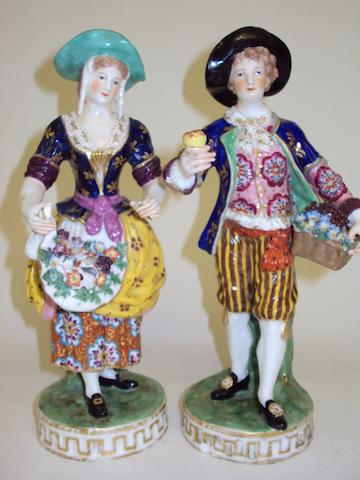 A pair of 19th century Derby figures