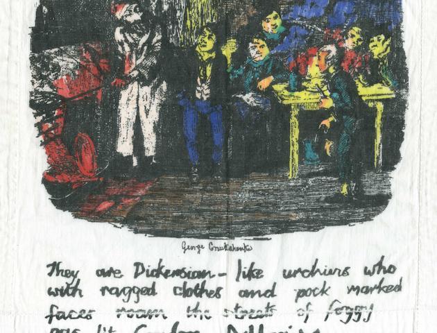 A Sex Pistols 'Dickens' handkerchief,