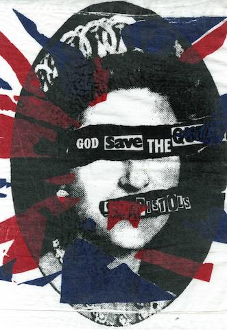 A Sex Pistols 'God Save The Queen' handkerchief,