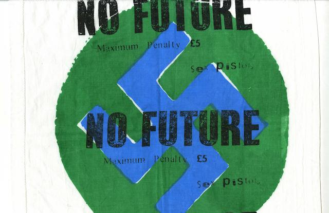 A Sex Pistols 'No Future' handkerchief,