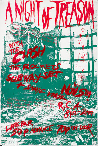 The Clash: A British screenprint concert poster,