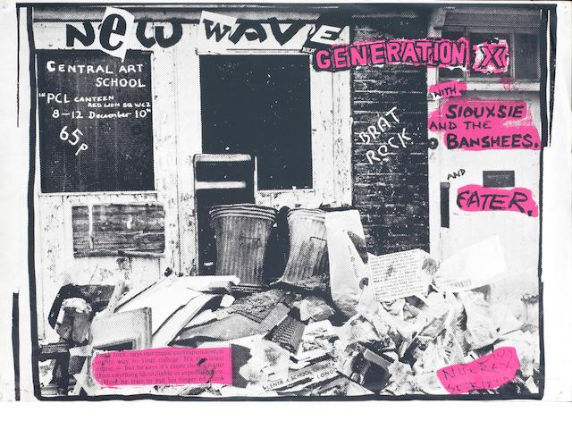 Generation X; A British concert poster,