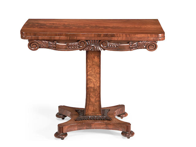 A William IV mahogany card table