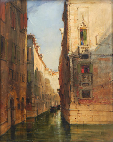 James Holland, RWS (British, 1799-1870) Canal scene, Venice