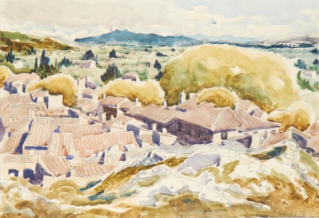 Julian Trevelyan R.A. (British, 1910-1988) Continental landscape