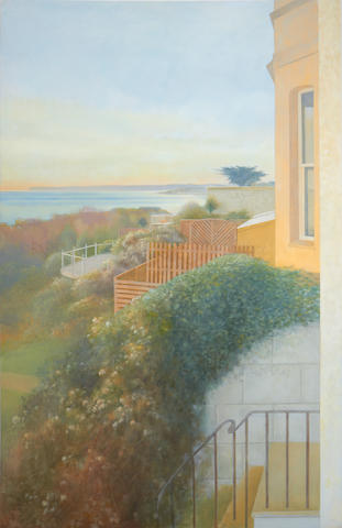 David Tindle, R.A. (British, born 1932) 'Terraces to the sea, St Leonards-on Sea'