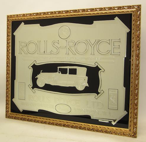 A Rolls-Royce 'The Best Car in the World' advertising mirror,