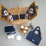 A Bentley four person wicker picnic hamper, by Gadsby & Co,