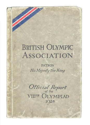 Official Report Fairlie (F.G.L.) The Official Report of the VIIIth Olympiad, Paris 1924, The British Olympic Association, [1924]; together with a cotton Union Jack handkerchief (2)