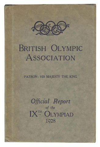 Official Report Abrahams (Harold M., editor) The Official Report of the IXth Olympiad, Amsterdam 1928, The British Olympic Assocation, [1928]