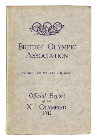 Official Report Webster (F.A.M., editor) The Official Report of the Xth Olympiad Los Angeles 1932; and one other (2)