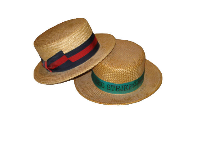 Elton John: a trademark straw boater and other items,