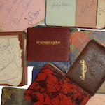 A collection of 13 autograph books with film star signatures,