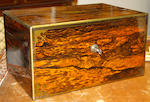 A Victorian coromandel fitted vanity box