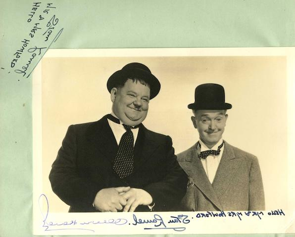 Laurel and Hardy: a collection of signatures in an autograph album,