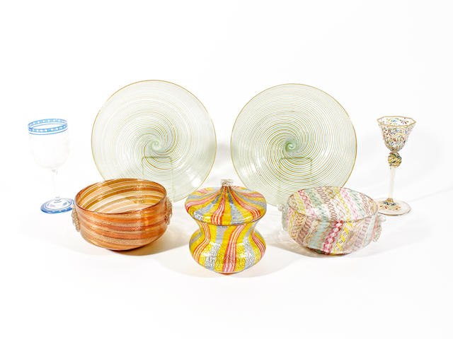A group of continental glass