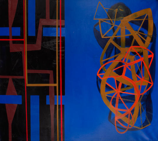 Maurice Cockrill R.A. (British, born 1936) 'Divided - Red, Yellow, Blue'