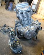 A Honda CB 500T engine,