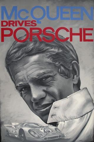 Tony Upson, 'Steve McQueen - Gulf Porsche Le Mans',