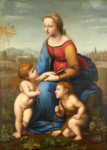 After Raffaello Sanzio, called Raphael, 19th Century La Belle Jardiniere
