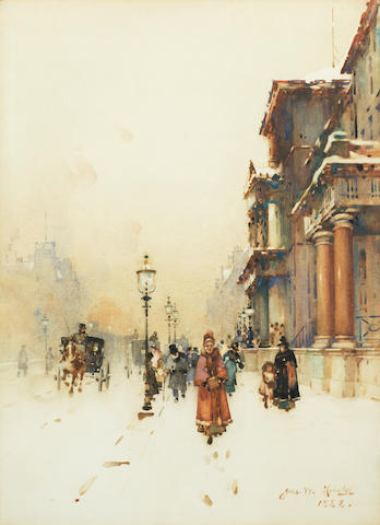 James Watterston Herald (British, 1859-1914) Queen Street, Edinburgh 44.7 x 32.5 cm. (17 1/2 x 12 3/4 in.)