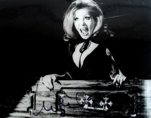 Hammer Horror: A collection of signed promotional stills,  including; Christopher Lee and Ingrid Pitt,