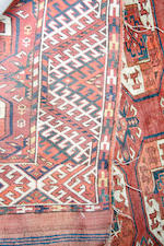 A Turkmen main carpet 348 x 204cm