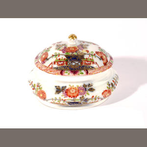 An early Meissen sugar box and cover, circa 1730-35