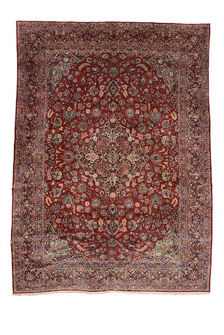 A Kashan carpet, Central Persia, 433cm x 323cm