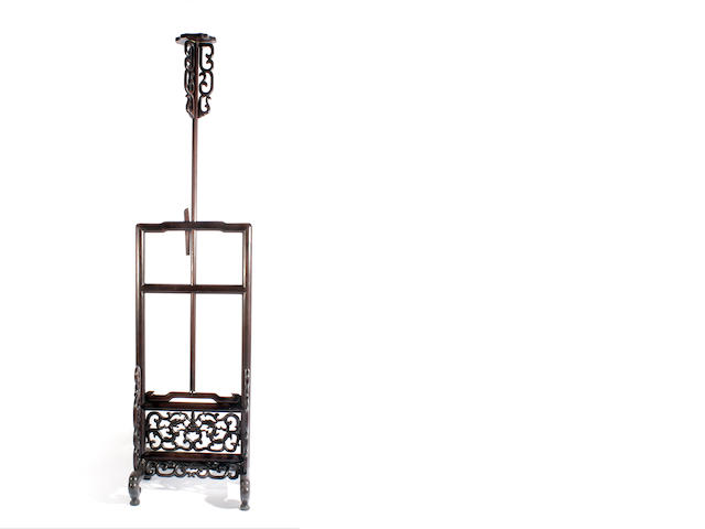 A huanghuali adjustable lantern holder
