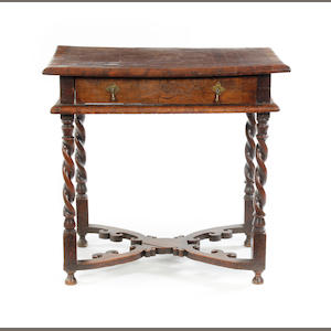 An oyster veneered and oak side table Circa 1670-80 and later