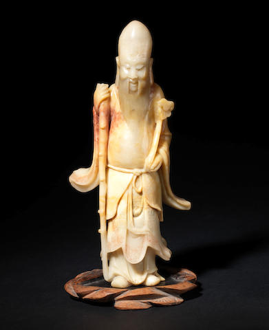 A soapstone figure of Shoulao