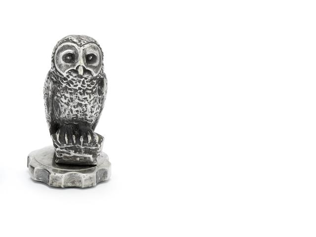 An 'Owl' mascot, by Maxime Le Verrier, French, 1920s,