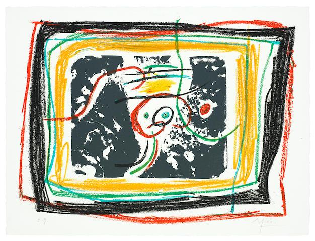 Joan Miró (Spanish, 1893-1983) L'enfance d'UBU