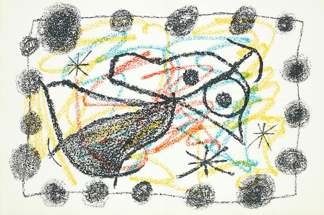 Joan Miró (Spanish, 1893-1983) Bouquet de Rêves pour Neila