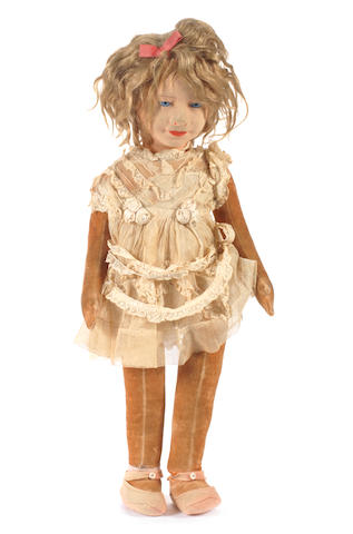 Chad Valley Queen Elizabeth cloth doll