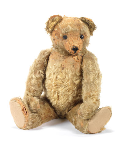 Early brown mohair Teddy bear, possibly Farnell