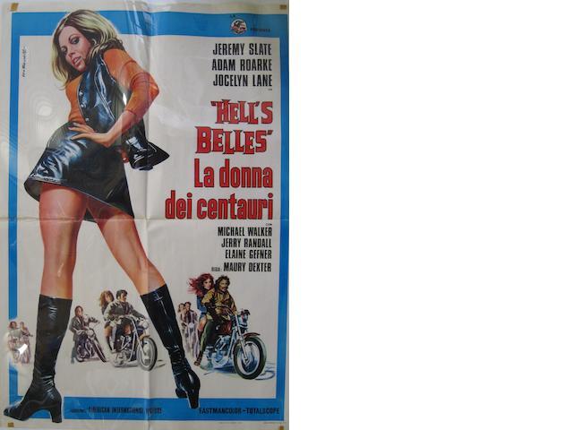 A 'Hell's Belles' Italian film poster,