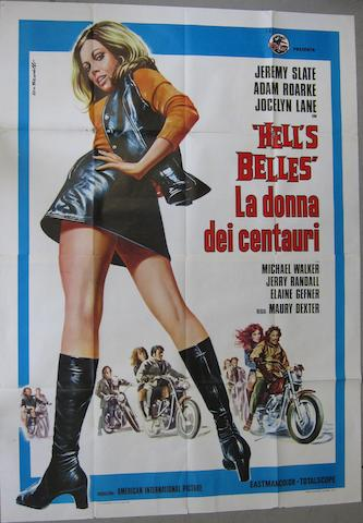 A 'Hell's Belles' Italian film poster,