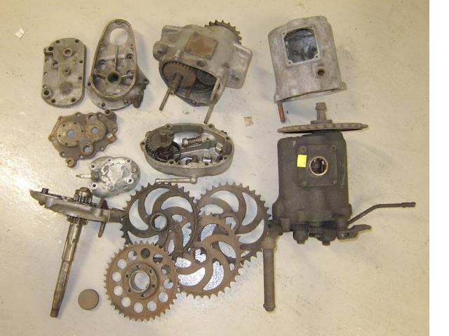 Assorted gearbox parts and casings,