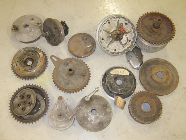 Assorted brake components,