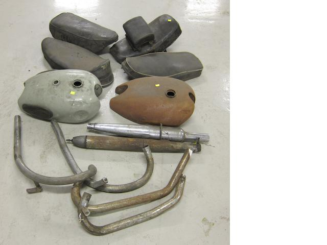 Two petrol tanks including BSA,