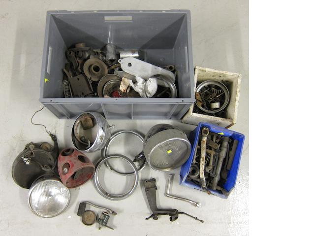 Assorted sundry spares,