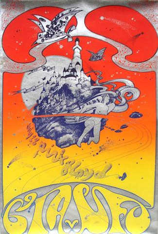 Pink Floyd posters by Hapshash and The Coloured Coat, with other posters, UK, late 1960s