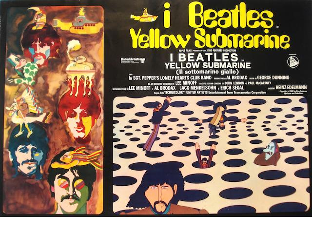 A set of 'Yellow Submarine' posters, 1969,