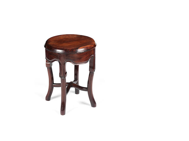 A huanghuali stool 19th century