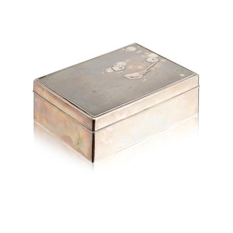 A silver box Circa 1919
